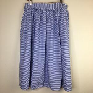 Vineyard Vines 1X Blue White Striped Skirt Target